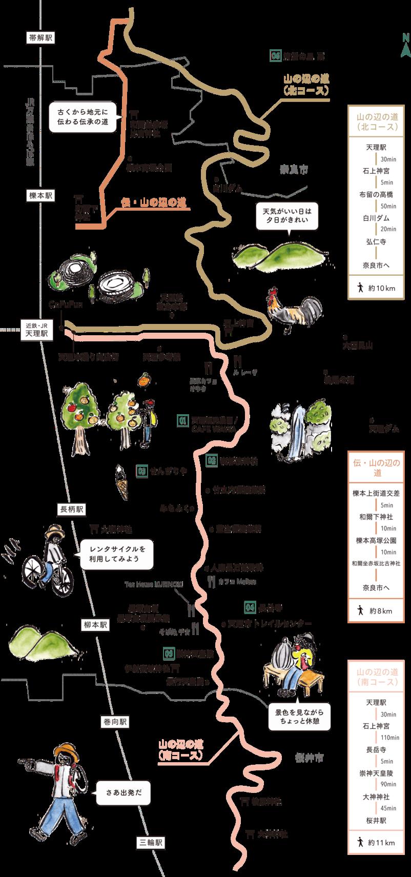 日本最古の道 MAP